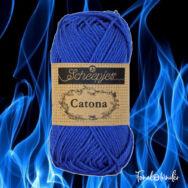Scheepjes Catona 201 Electric Blue - kék - pamut fonal  - cotton yarn