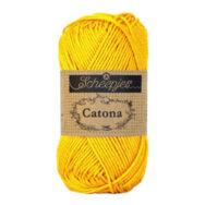 Scheepjes Catona 208 Yellow Gold - yellow - sárga - pamut fonal  - cotton yarn