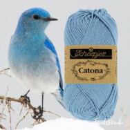 Scheepjes Catona 247 Bluebird - kék - pamut fonal  - cotton yarn