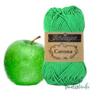 Scheepjes Catona 389 Apple Green - almazöld - pamut fonal  - cotton yarn