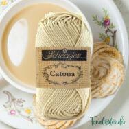 Scheepjes Catona 404 English Tea - pamut fonal  - cotton yarn - 02
