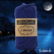 Scheepjes Catona 527 Midnight - blue - sötétkék - pamut fonal  - cotton yarn