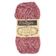 Scheepjes Stone Washed 810 Garnet - lila pamut fonal - purple cotton yarn