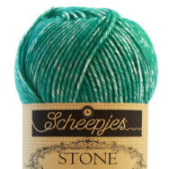 Scheepjes Stone Washed 825 Malachite - zöld pamut fonal - green cotton yarn