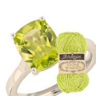 Scheepjes Stone Washed 827 Peridot - sárgászöld pamut fonal - green-yellow cotton yarn