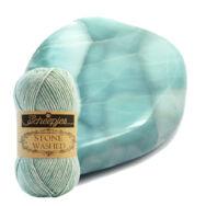 Scheepjes Stone Washed 828 Larimar - halvány kék pamut fonal - light blue-gray cotton yarn