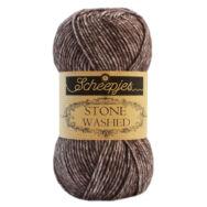 Scheepjes Stone Washed 829 Obsidian - barna pamut fonal - brown cotton yarn