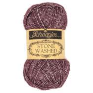 Scheepjes Stone Washed 830 Lepidolite - lila pamut fonal - purple cotton yarn