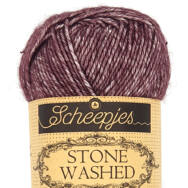 Scheepjes Stone Washed 830 Lepidolite - lila pamut fonal - purple cotton yarn