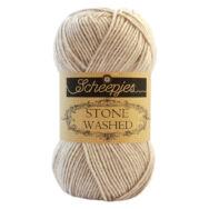 Scheepjes Stone Washed 831 Axinite - drapp pamut fonal - light-brown cotton yarn