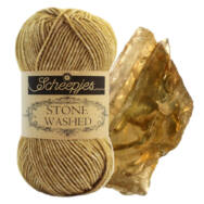 Scheepjes Stone Washed 832 Enstatite - aranybarna pamut-akril fonal - golden brown cotton based yarn