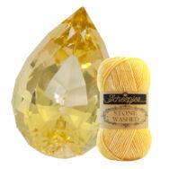Scheepjes Stone Washed 833 Beryl - nap-sárga pamut fonal - sun-yellow cotton yarn