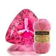 Scheepjes Stone Washed 836 Tourmaline - rózsaszín pamut fonal - pink cotton yarn