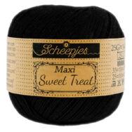 Scheepjes Maxi Sweet Treat 110 Jet Black - pamut fonal  - cotton yarn