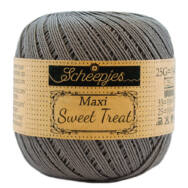 Scheepjes Maxi Sweet Treat 242 Metal Gray - fémes szürke pamut fonal  - gray cotton yarn