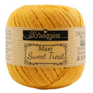 Scheepjes Maxi Sweet Treat 249 Saffron - sáfrány sárga pamut fonal  - yellow cotton yarn