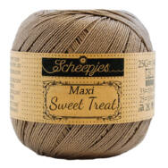 Scheepjes Maxi Sweet Treat 254 Moon Rock - barnás szürke pamut fonal  - gray cotton yarn