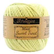 Scheepjes Maxi Sweet Treat 392 LIme Juice - lime zöld pamut fonal  - light green cotton yarn