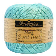 Scheepjes Maxi Sweet Treat 397 Cyan - ciánkék pamut fonal  - blue cotton yarn