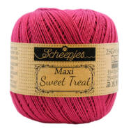 Scheepjes Maxi Sweet Treat 413 Cherry - piros pamut fonal  - cotton yarn