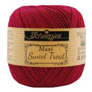 Scheepjes Maxi Sweet Treat 517 Ruby - rubinvörös pamut fonal  - cotton yarn
