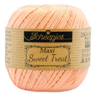 Scheepjes Maxi Sweet Treat 523 Pale Peach - barackszín pamut fonal  - cotton yarn