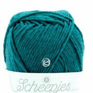 Scheepjes Linen Soft 608 blue - len keverék fonal - yarn blend