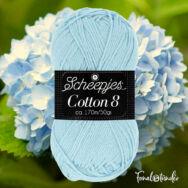 Scheepjes Cotton8 562 light blue - halvány kék pamut fonal  - cotton yarn