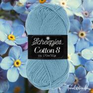 Scheepjes Cotton8 711 cool light blue - világoskék pamut fonal  - cotton yarn