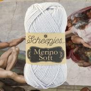 Scheepjes Merino Soft 603 Michelangelo - világosszürke gyapjú fonal - light-gray yarn blend
