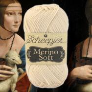 Scheepjes Merino Soft 606 Da Vinci  - bézs gyapjú fonal - beige yarn blend