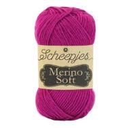 Scheepjes Merino Soft 636 Carney - sötét rózsaszín gyapjú fonal - deep pink yarn blend