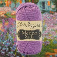 Scheepjes Merino Soft 639 Monet - lila gyapjú fonal - purple yarn blend