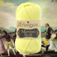 Scheepjes Merino Soft 648 Goya - kanári sárga gyapjú fonal - canary yellow yarn blend