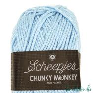 Scheepjes Chunky Monkey 1019 Powder Blue - púderkék akril fonal - acrylic yarn