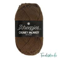 Scheepjes Chunky Monkey 1054 Tawny - barna akril fonal - brown acrylic yarn