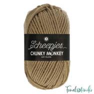 Scheepjes Chunky Monkey 1064 Beige - drapp akril fonal - light-brown acrylic yarn