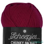 Scheepjes Chunky Monkey 1123 Garnet - gránátvörös akril fonal - acrylic yarn