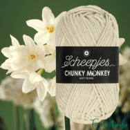 Scheepjes Chunky Monkey 1218 Jasmine - jázmin fehér akril fonal - acrylic yarn - kep2