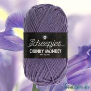 Scheepjes Chunky Monkey 1277 Iris - lila akril fonal - purple acrylic yarn