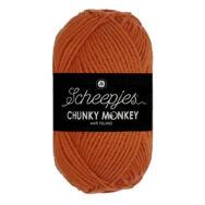 Scheepjes Chunky Monkey 1711 Deep Orange - sötét narancs akril fonal - acrylic yarn
