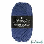 Scheepjes Chunky Monkey 1825 Midnight - sötétkék akril fonal - darkblue acrylic yarn