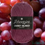 Scheepjes Chunky Monkey 1828 Grape - szőlő-lila akril fonal - purple acrylic yarn