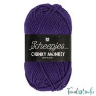 Scheepjes Chunky Monkey 2001 Deep Violet - sötétlila akril fonal - purple acrylic yarn