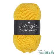 Scheepjes Chunky Monkey 2004 Canary - kanárisárga akril fonal - yellow acrylic yarn