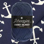 Scheepjes Chunky Monkey 2005 Navy - tengerész-kék akril fonal - deep-blue acrylic yarn
