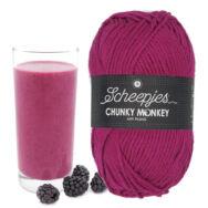 Scheepjes Chunky Monkey 2009 Mulberry - szeder lila akril fonal - purple acrylic yarn