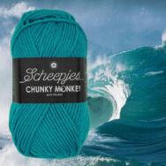 Scheepjes Chunky Monkey 2015 Ocean - óceánkék akril fonal - blue acrylic yarn