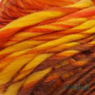 Scheepjes Felina 002 - narancs-barna színátmenetes gyapjú fonal