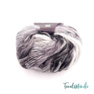 Scheepjes Felina 021 - fekete-fehér gyapjú fonal - black-white gradient yarn blend